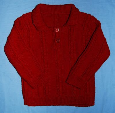Knitted toddle's pullover. Materials: wool
