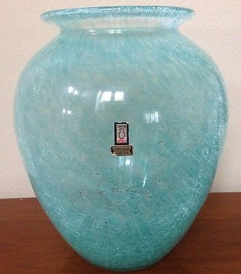 Torquoise-Aqua-Blue-Swirl-Crackle-Glass-Case-Hand-Cut-Karcag-Hungary-Large-12