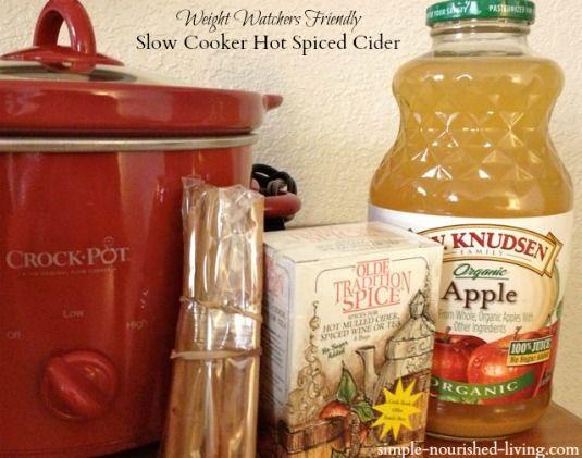 Slow Cooker Hot Spiced Cider | Weight Watchers Friendly Recipes | 3 PointsPlus #crockpot #weightwatchers