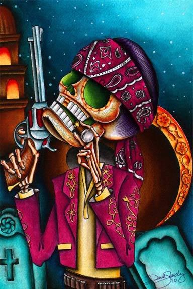 Lowbrow Art Company | Clavo Art Print | Dave Sanchez Artwork | The Atomic Boutique.com