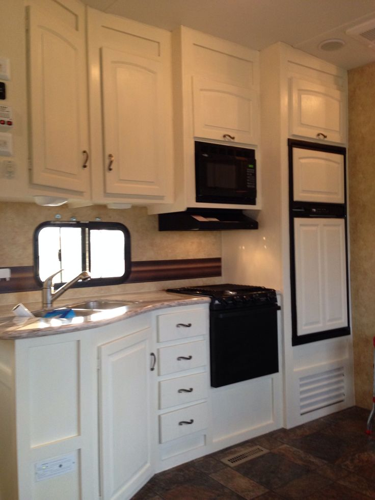 Rv Cabinets Makeover With ASCP In Old White With Clear Wax