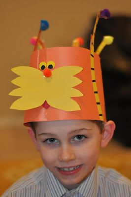 Super cute hat for the Lorax by Dr. Seuss!