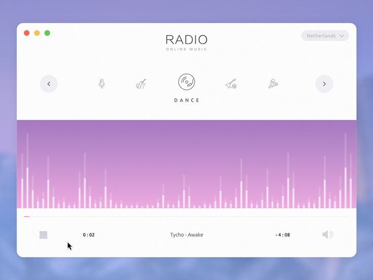 Web radio player concept ramotion