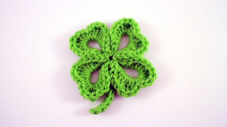 For written instructions, please visit: http://www.bhookedcrochet.com/2015/02/15/crochet-four-leaf-clover/ Follow me on: http://www.facebook.com/bhookedcroch...