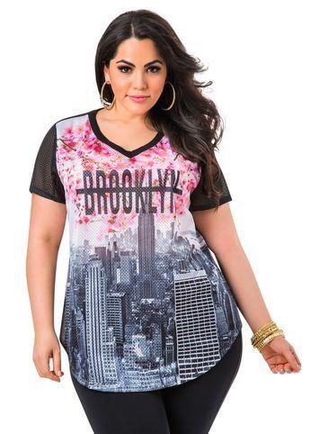 Plus Model: Nicole Zepeda, Agency: MSA Models CURVE Division, Agent: Susan Georget Mesh Brooklyn Shirt Mesh Brooklyn Shirt