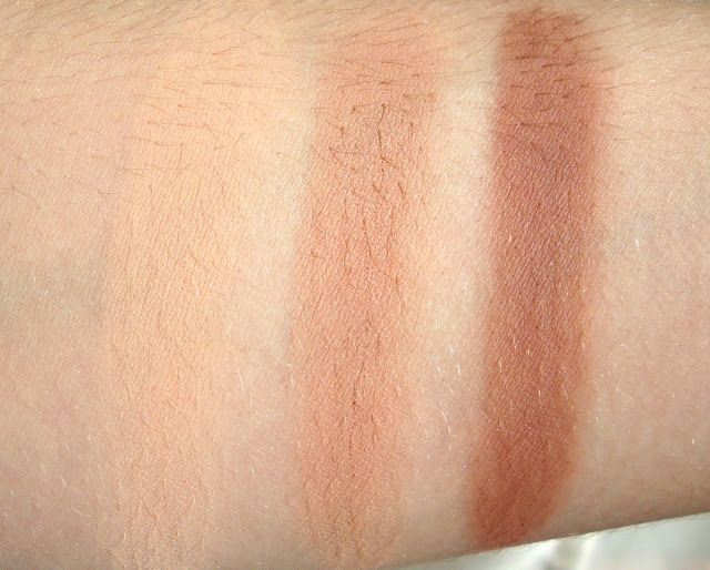 Makeup Geek Peach Smoothie, Creme Brulee, Cocoa Bear Eyeshadows Review, Swatches, Dupes