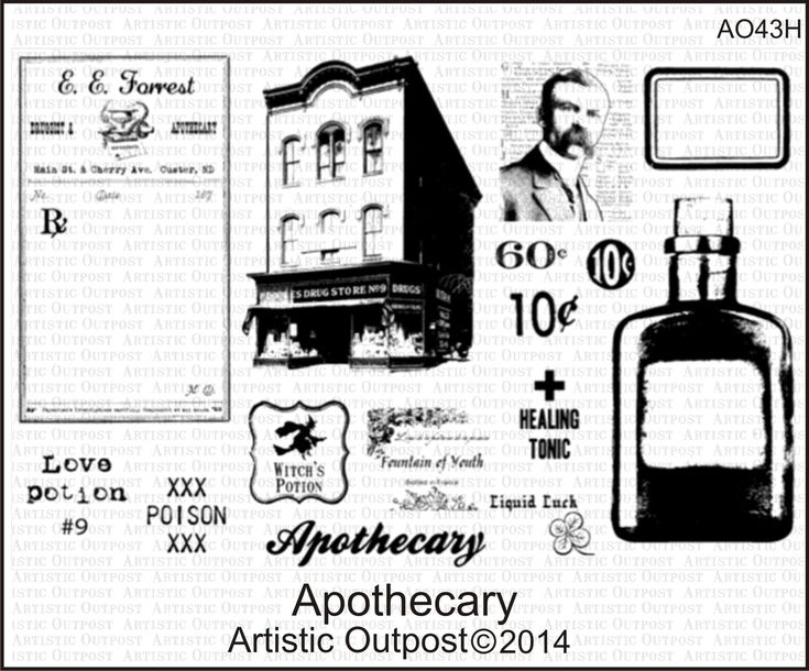 Stamps - Artistic Outpost Apothecary