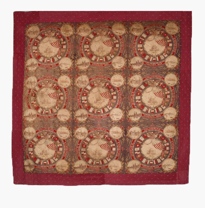 Q8998 1893 Chicago Exposition World S Fair Quilt Antique Quilts Quilts History Of Quilting