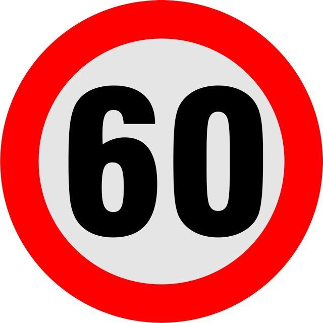 Naklejka Ogranicznik prędkości 60 km