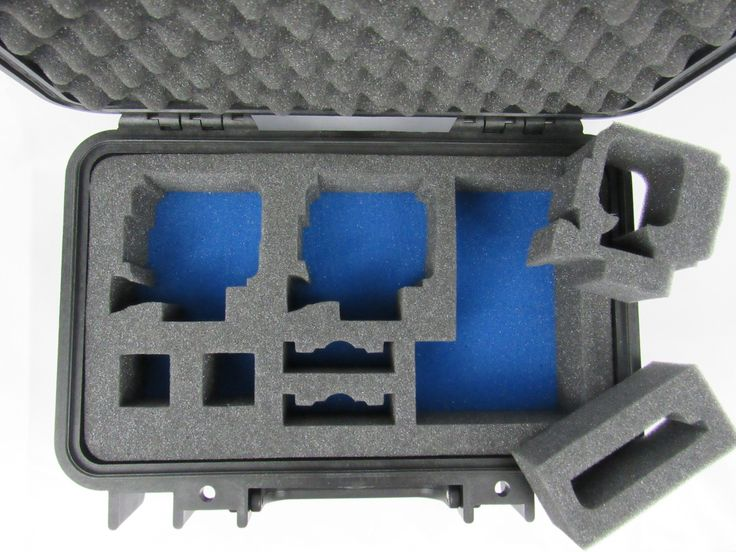Pelican Case 1170 with Custom Foam Insert for GoPro Hero 4, Hero Session and Accessories (Case & Foam)