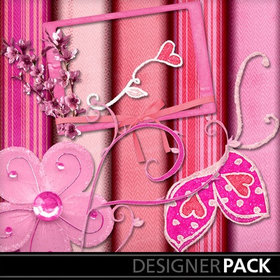 Digital Scrapbooking Kits | Passion Pink-(bryan73) | Babies, Family, Friends, Girls, Love, Memories | MyMemories Barbara Ryan