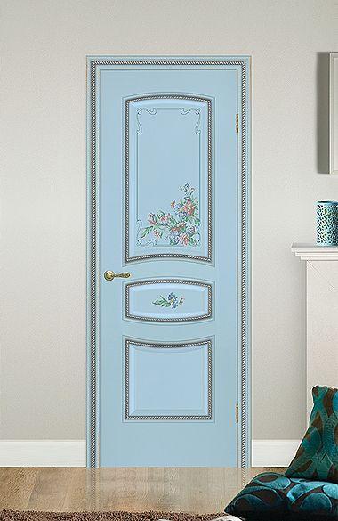 Межкомнатная дверь «Флоренция». Отделка «прованс бирюза» #дверирулес #двери #межкомнатные #door