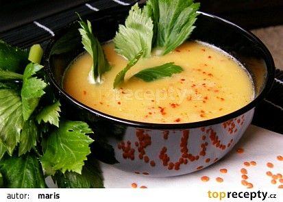 Krémová polévka z červené čočky recept - TopRecepty.cz