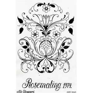 68 best images about norwegian rosemaling on pinterest for Norwegian flower tattoo