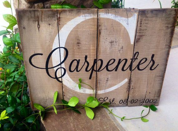 Last name with est. date rustic wooden sign made by 13AceAvenue