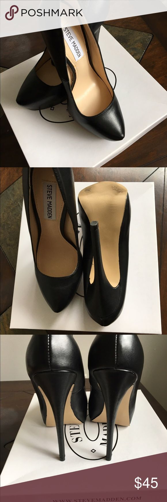 Steve Madden Yasmin Black Elegant High Heels Gently worn once, no scratches or any other damages.Very comfortable and looks great for the parties and business meeting Steve Madden Shoes Heels