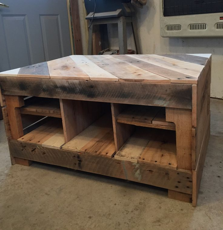 Coffee table enclosed with shelving palettenm bel - Selbstgemachte holztische ...
