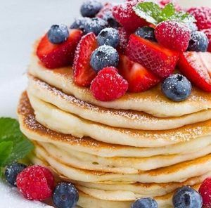 Diet cottage cheese pancakes with oatmeal - a perfect breakfast!