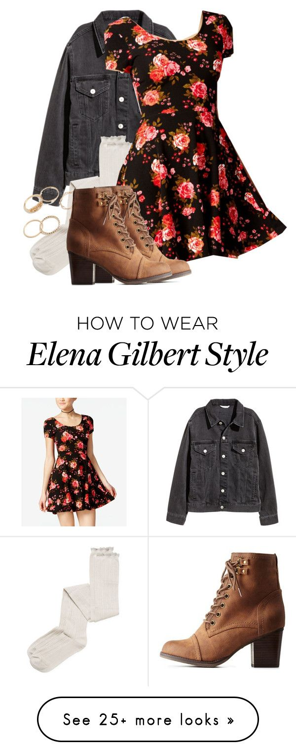 """""""Elena Gilbert/Davina Claire Inspired Outfit"""" by demiwitch-of-mischief on Polyvore featuring Intimately Free People, Planet Gold and Charlotte Russe"""
