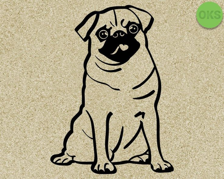 Pug Svg Dxf Vector Eps Clipart Cricut Download Pugs