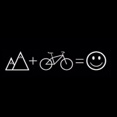 We can support and get into this kind of math! #mtb #cycle #happy