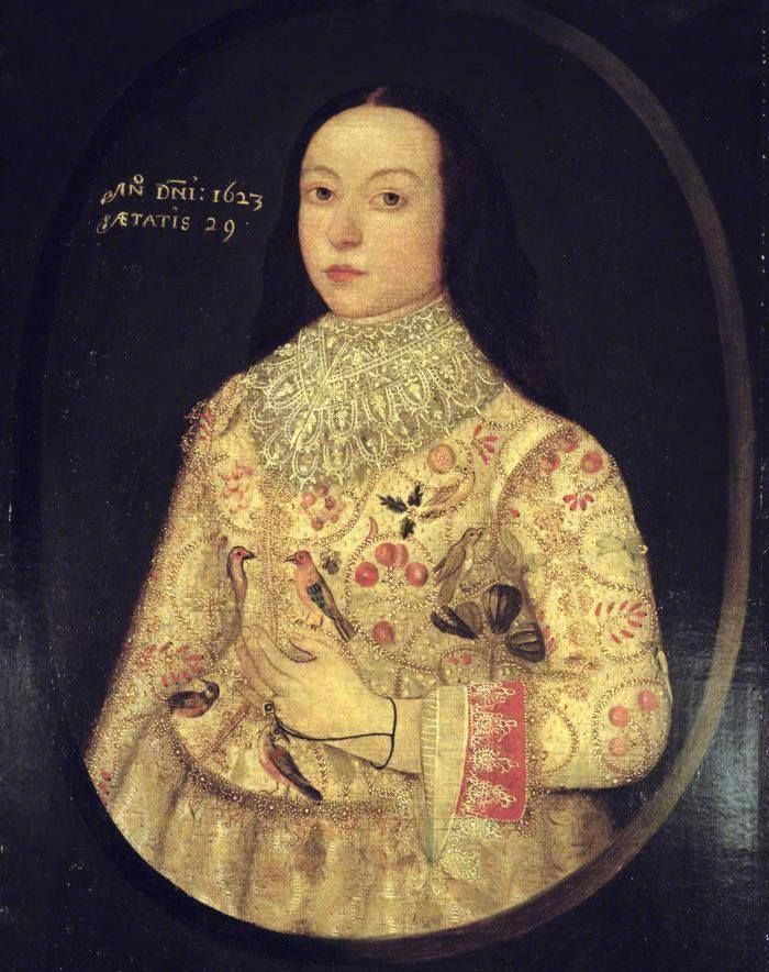 Portrait miniature of Amy Seymour, dated 1623. http://www.tudorplace.com.ar/images/Seymour,Amy01.jpg