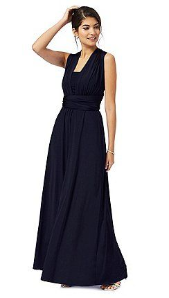 03cb3193971 Debut - Navy blue multiway evening dress