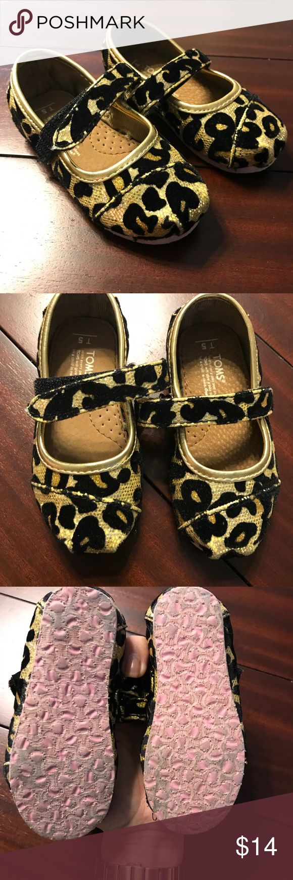 Leopard Toms Leopard metallic Toms Excellent condition Worn once Toms Shoes Sandals & Flip Flops