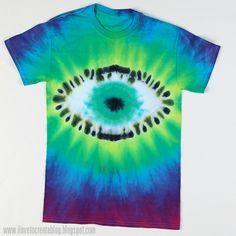 iLoveToCreate Blog: Tie Dye Eyeball Technique