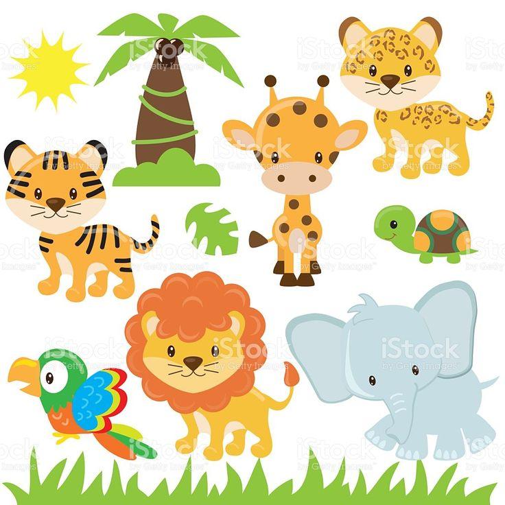 Jungle animal vector ilustración illustracion libre de derechos libre de derechos