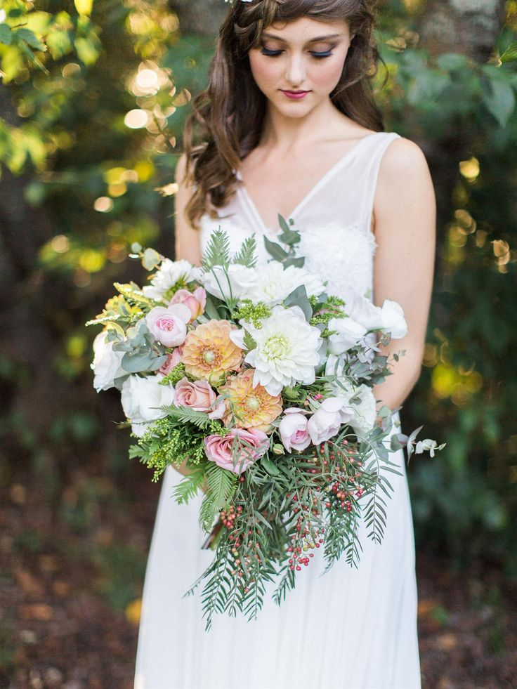 "Big and beautiful bouquet  ""Enchanted Forest"" – Ethereal Autumn Wedding Inspiration"