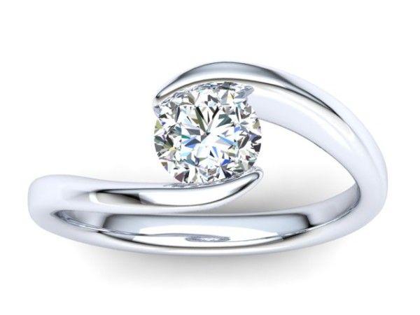 C018 Eleanor Swirl Engagement Ring