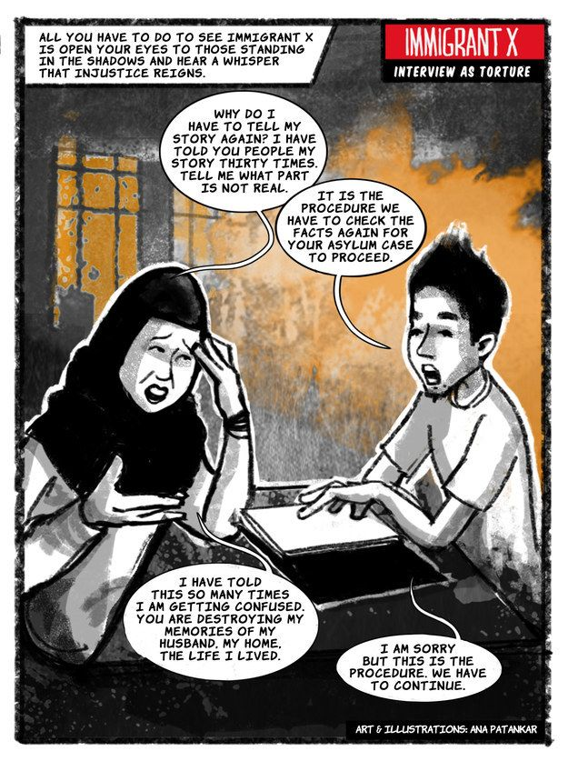 "Latest ""Immigrant X"" Comic Frames Asylum Interviews As Torture"