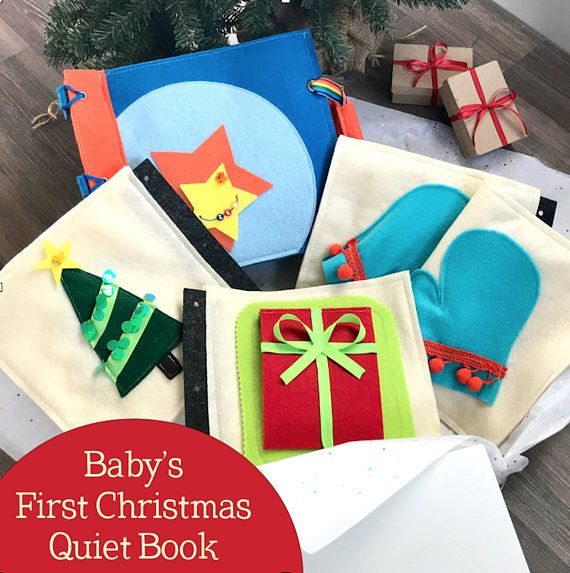 Baby's First Christmas Quiet Book for 1 Year Old Boys