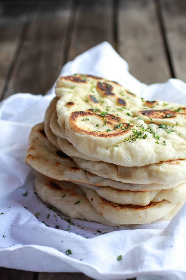 Homemade Naan (with step-by-step photos) | halfbakedharvest.com #foods #delicious