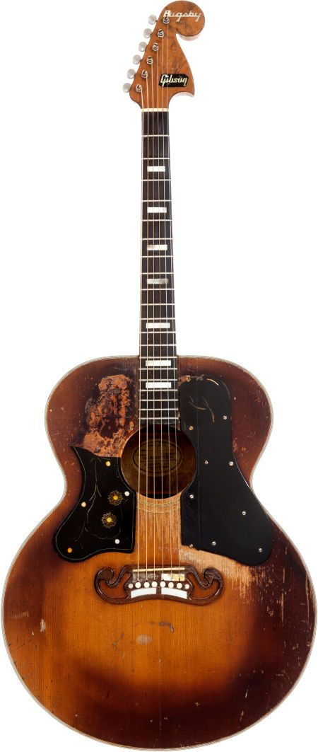 Circa 1949 Bigsby/Gibson J-200 Sunburst Acoustic Guitar. Long thought lost, this modified J-200 was the main guitar for Western Swing legend Dewey Groom, owner of the infamous Longhorn Ballroom.