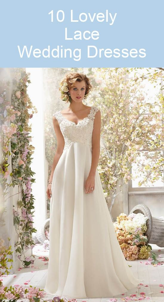10 Lovely Lace Wedding Dresses
