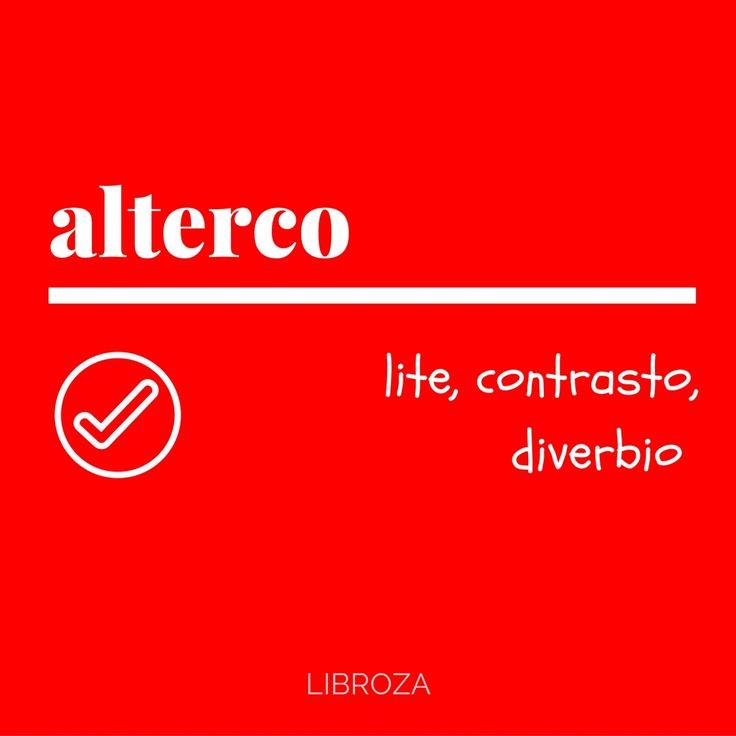 alterco - Parole nuove, parole rare - Libroza.com