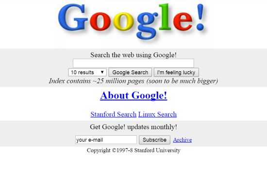 Google home page on Stanford's website   Google search page, Google ...