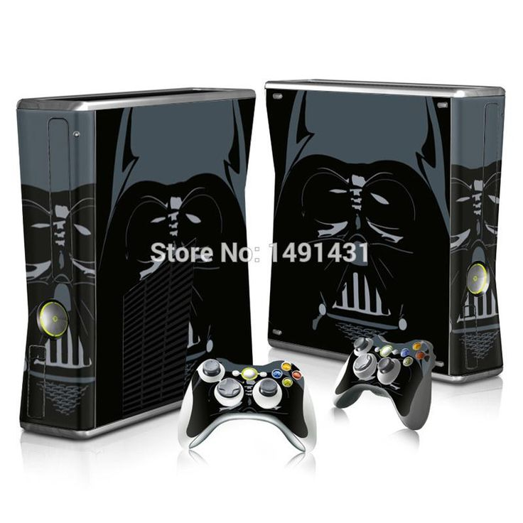 For Microsoft XBOX 360 Slim Star Wars Vinyl Decals Console skin + 2 Controller Stickers cover