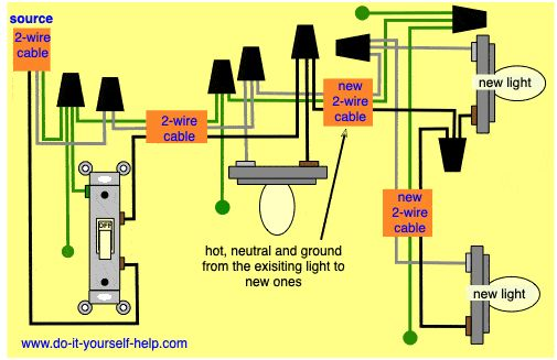 Wiring Diagram For Adding New Lights To An Existing Light
