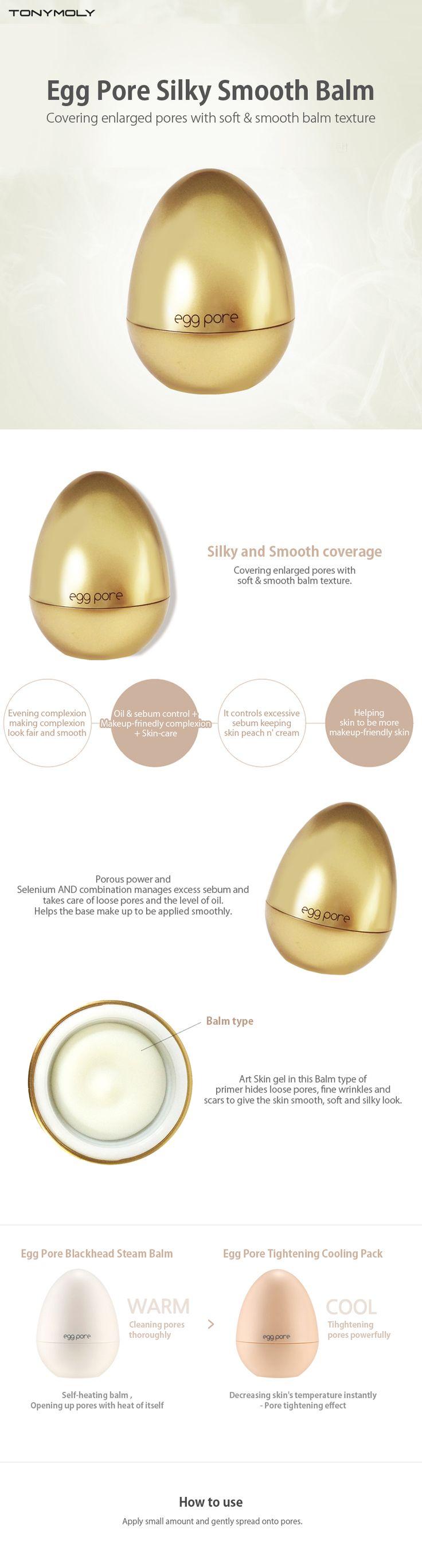 Tonymoly New Egg Pore Silky Smooth Balm 20g - Tonymoly Beautynetkorea Korean cosmetic