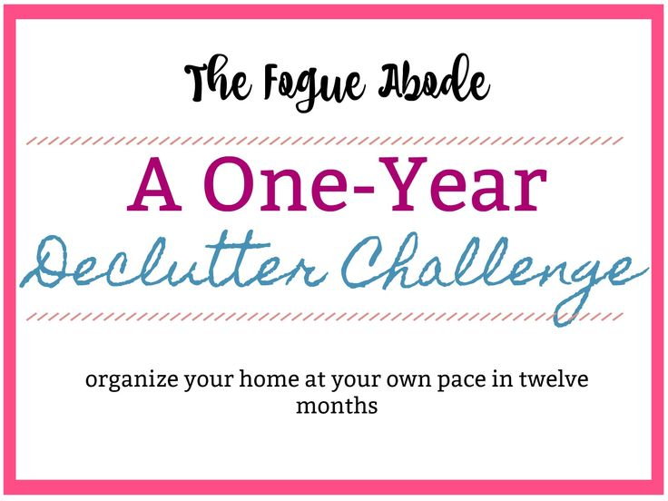 the fogue abode: One-Year Declutter Challenge