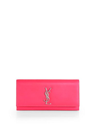 Saint Laurent Monogramme Neon Clutch , I have to have this...of course, right?
