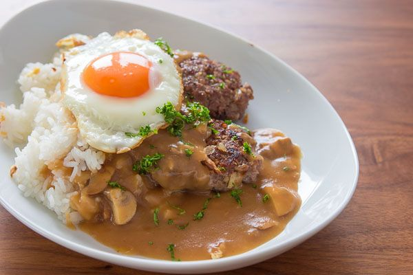 Loco Moco - - - fun name. wonder if i can get Jim to eat it? Maybe ...