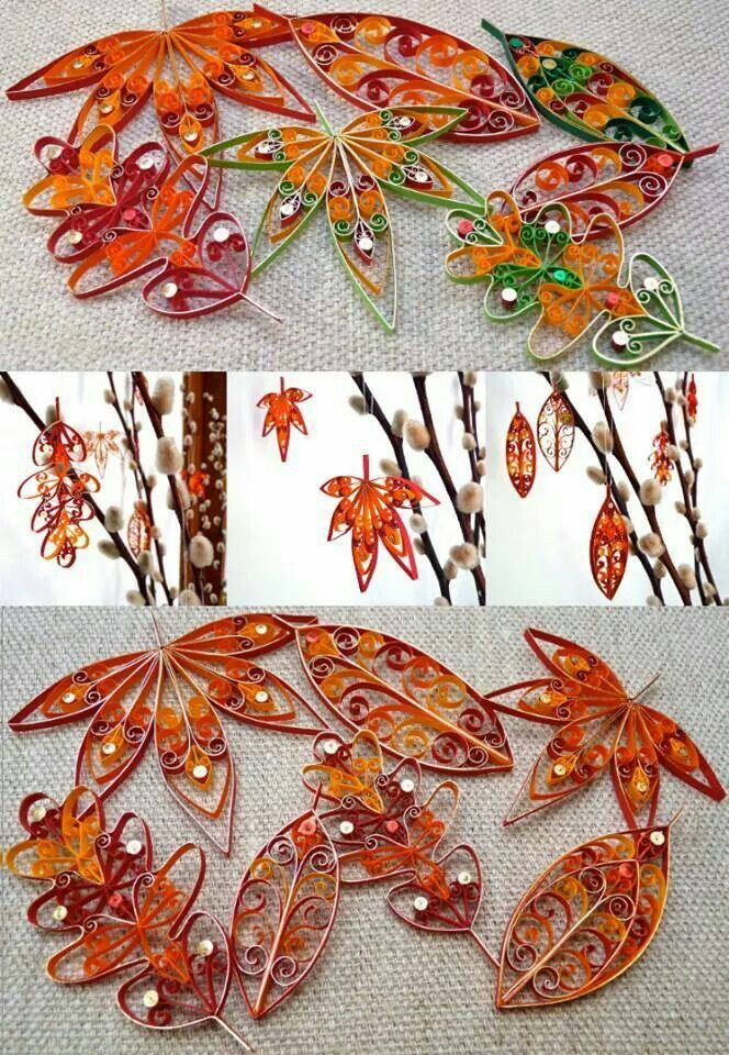 AWESOME! Autumn leaves. I must make these.