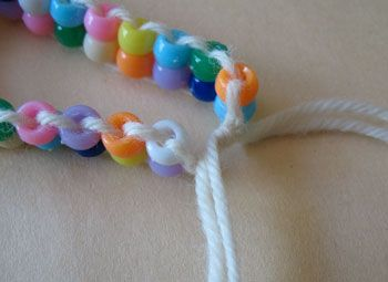 Pony Bead Bracelet. I'd like to make this. Very cute, very colorful.