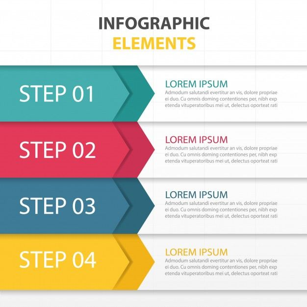 coloré modèle infographique d'affaires abstracttriangle Vecteur gratuit