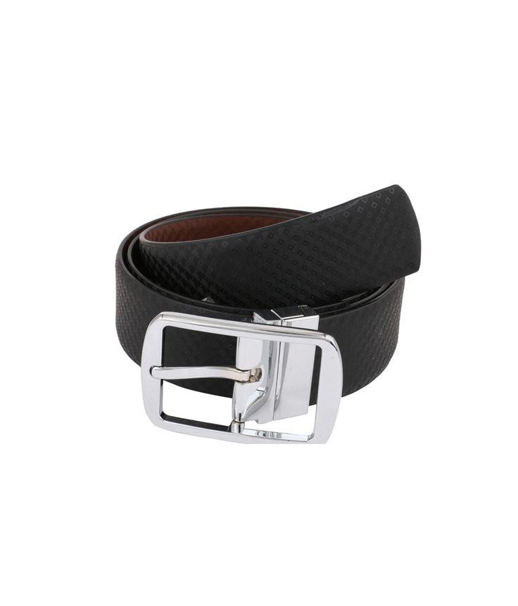 Vinson Massif Aulan Black Brown Reversible Leather Belt