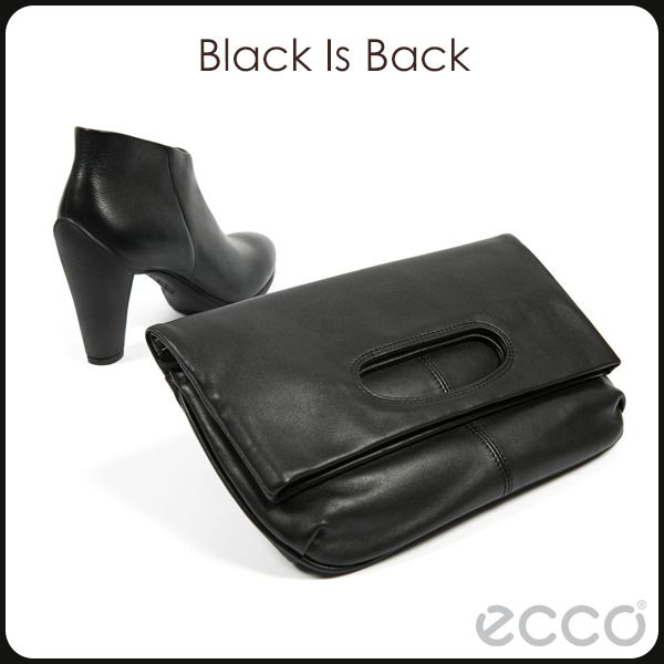Black is Back.  The basic necessities - black clutch purse and black booties.